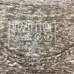 led zepplin Tops - Led Zeppelin Band Tee Classic Logo Size L